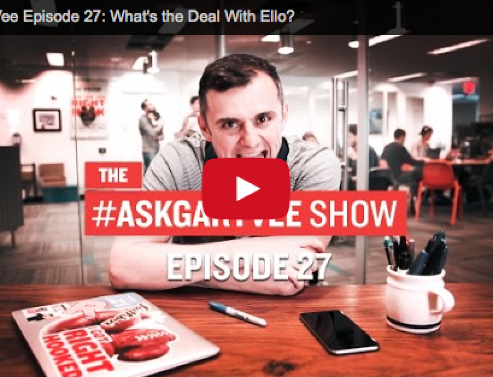My Question Answered on the #AskGaryVee Show!