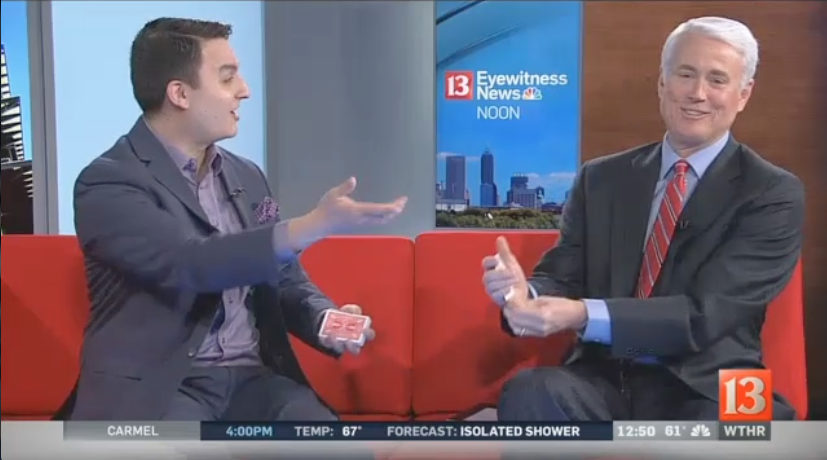 Indianapolis Magician David Ranalli performs magic on tv