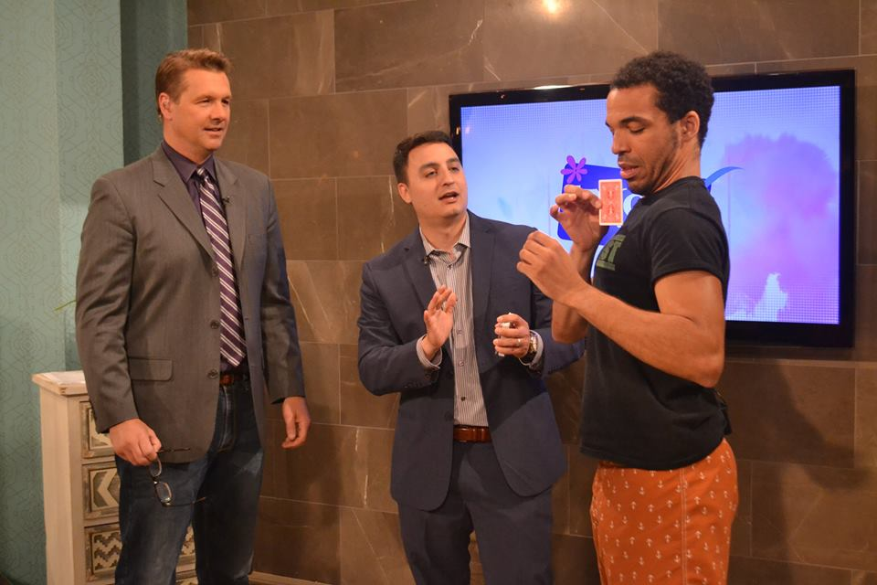 Photo of Magician David Ranalli & Hypnotist Chris Jones on TV