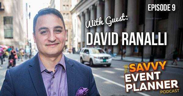 Magician David Ranalli guest interview photo for the savvy event planner podcast