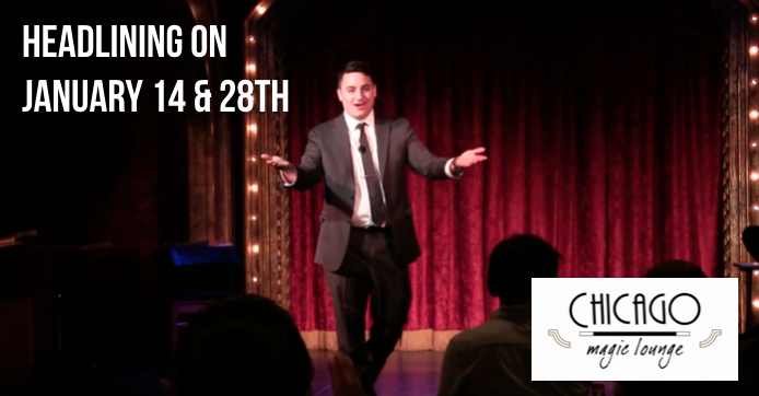 A Photo of David Ranalli headlining the Chicago Magic Lounge