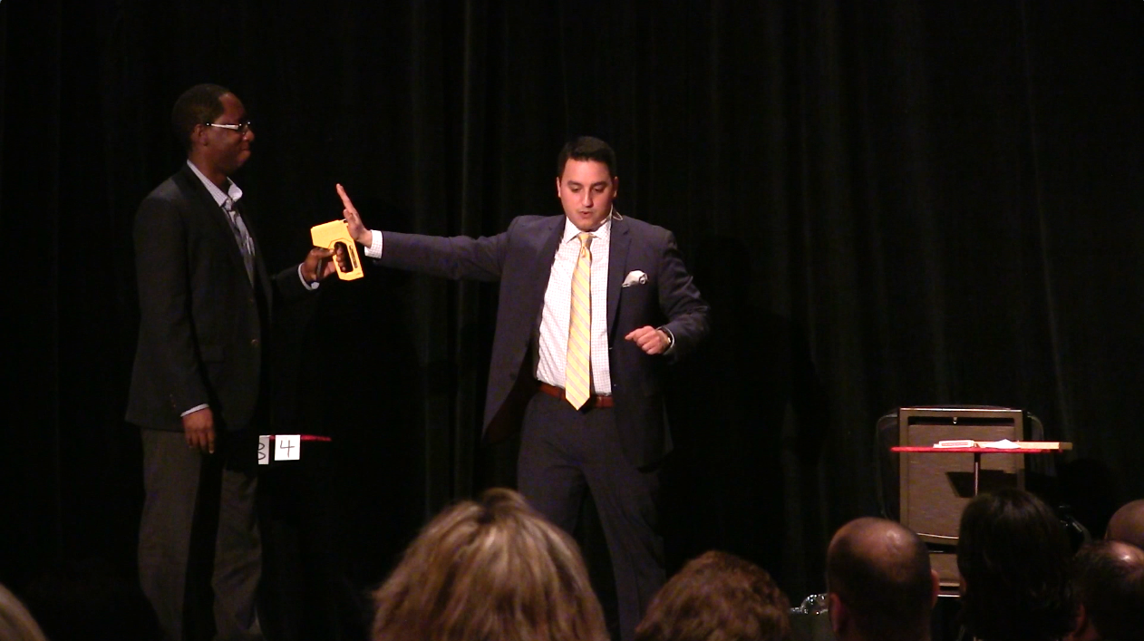 Photo of Corporate Magician David Ranalli on STage