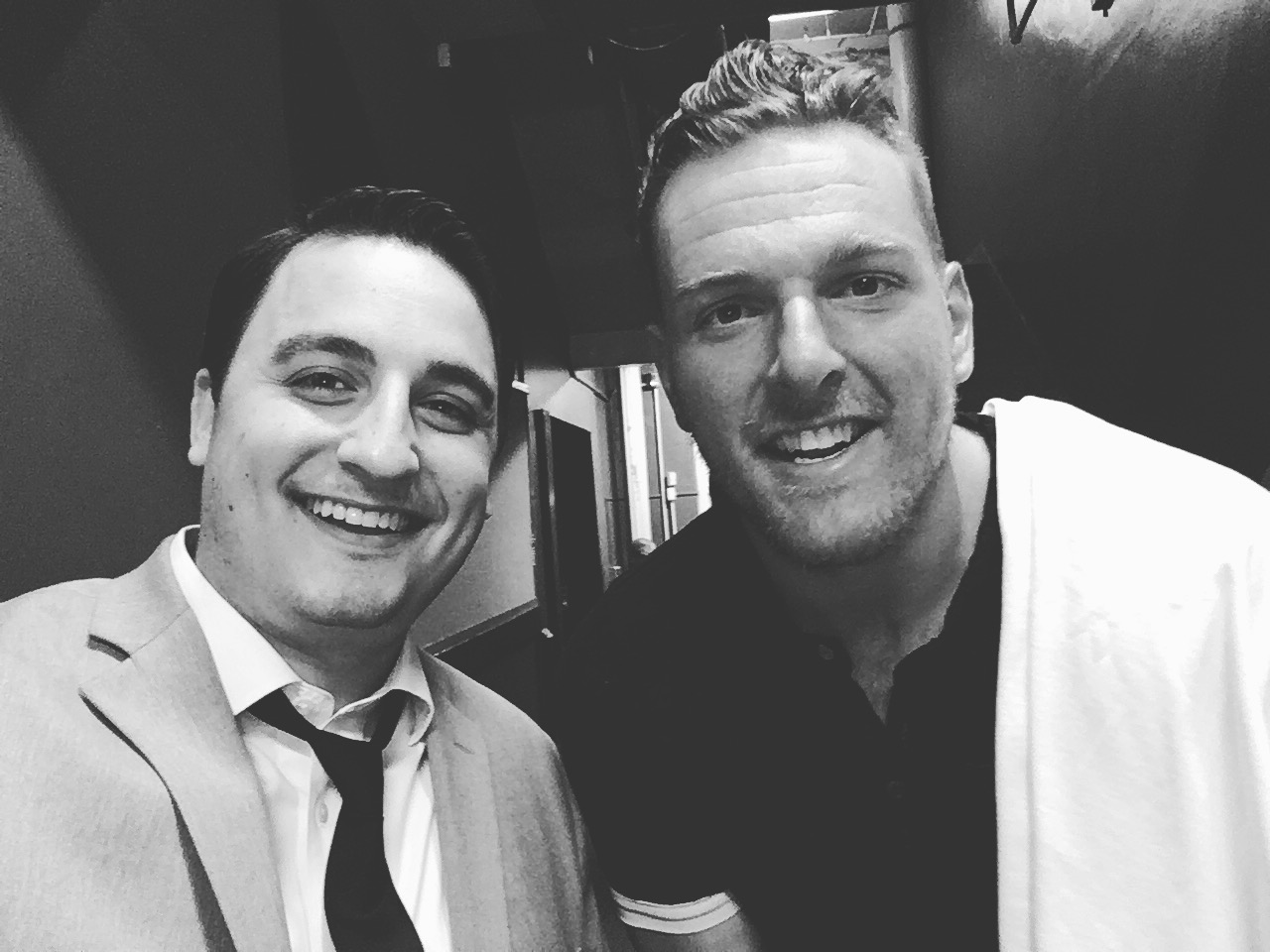 David Ranalli with Pat McAfee