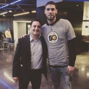 David Ranalli with Georges Niang