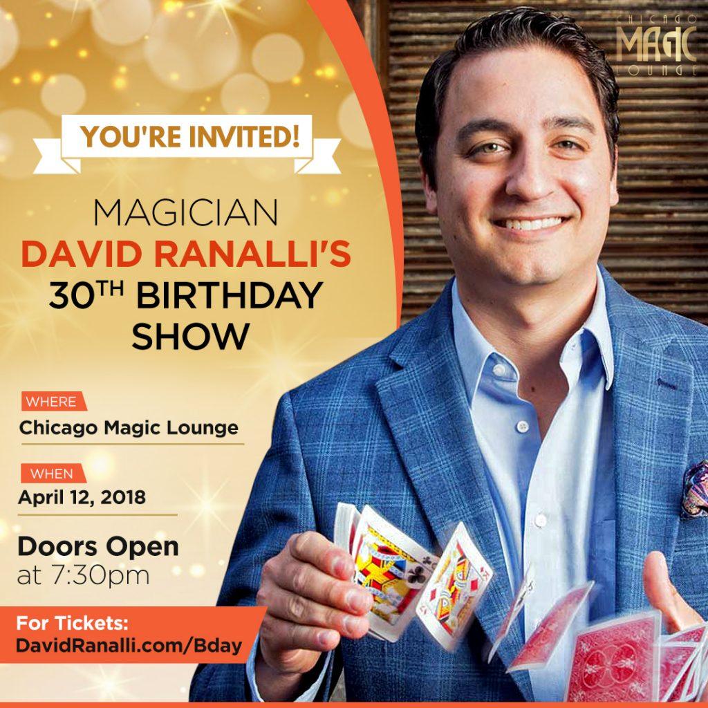 Chicago Magician David Ranalli's Birthday Show