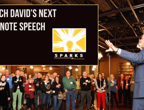 Watch David's Keynote Speech at Sparks Talk on April 10, 2019