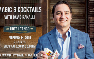 Magic & Cocktails at Hotel Tango, with Magician David Ranalli
