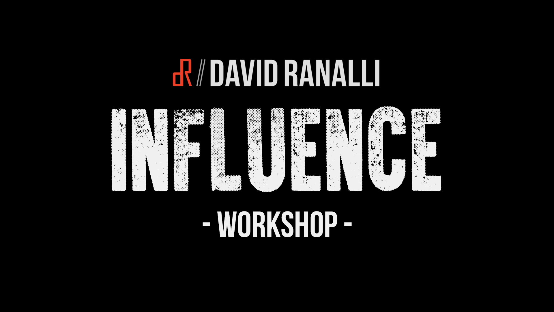 Influence and communication workshop with motivational speaker and magician David Ranalli